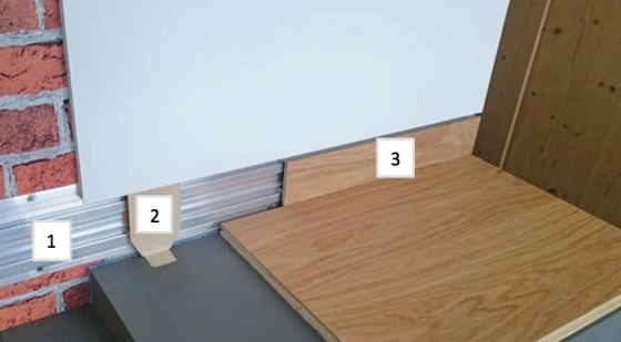 Flushmount skirting board by Admonter  with LED  Product