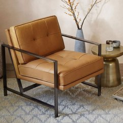 Leather Armchair Metal Frame Microfiber Club Chair With Ottoman Armchairs From Distributed By Williams Sonoma Inc To The Trade