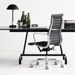 Herman Miller Executive Chair White Dining Covers Eames Aluminum Group Chairs