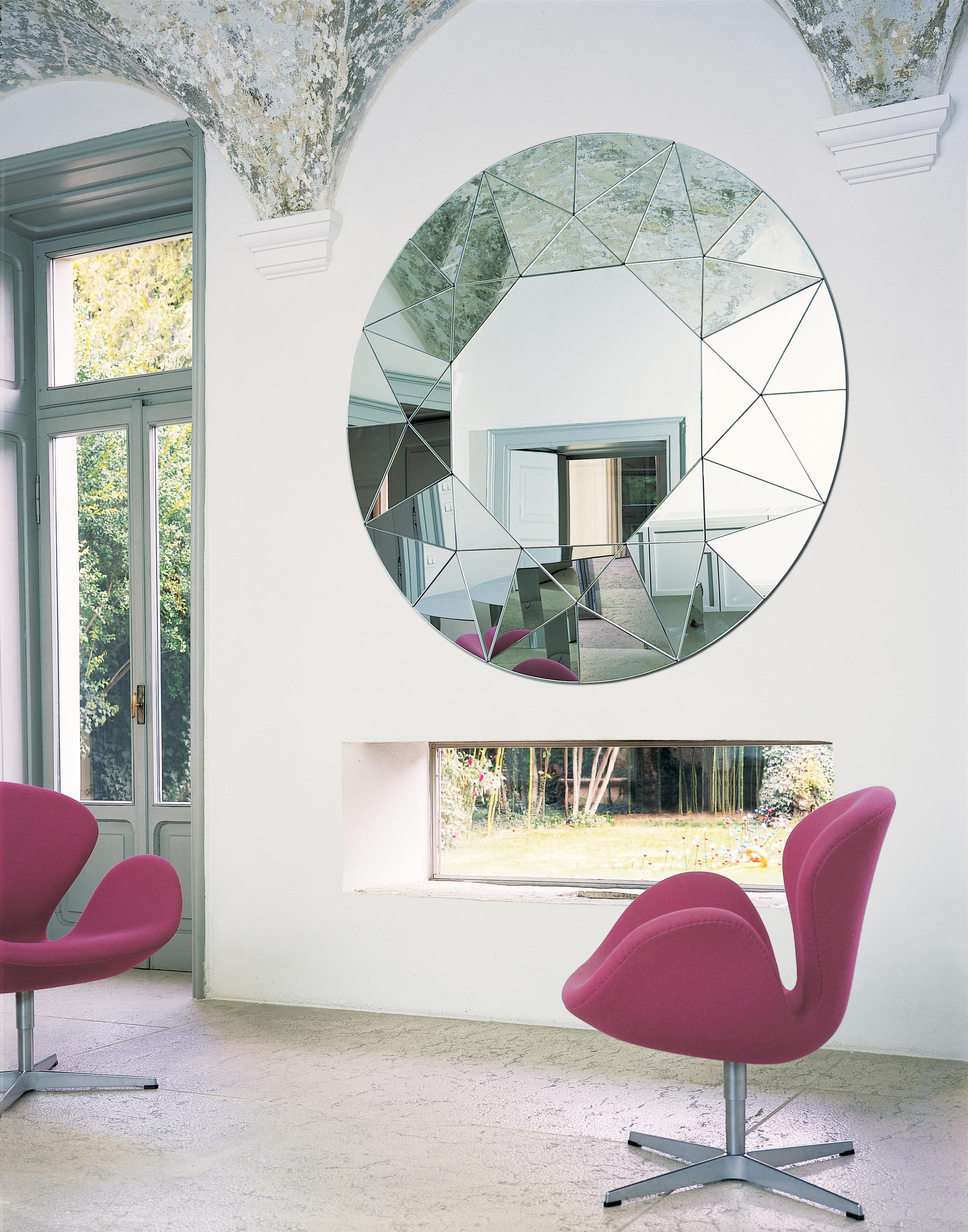 designer mirrors for living rooms small apartment room design pictures dream from gallotti radice architonic by