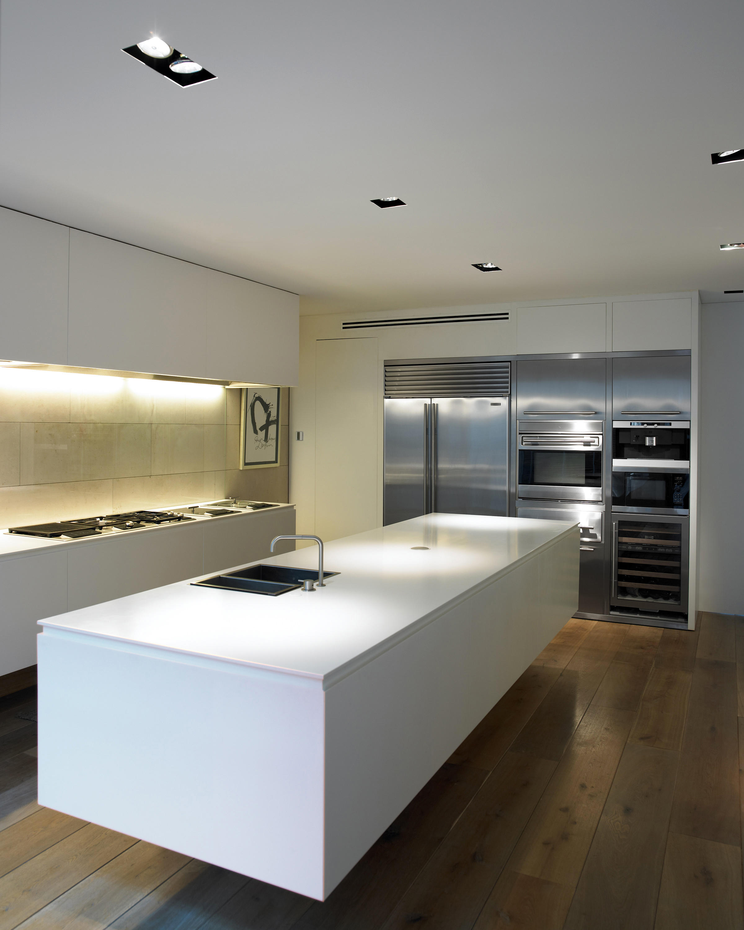 floating kitchen island best sink brands deep system recessed ceiling lights from b lux architonic