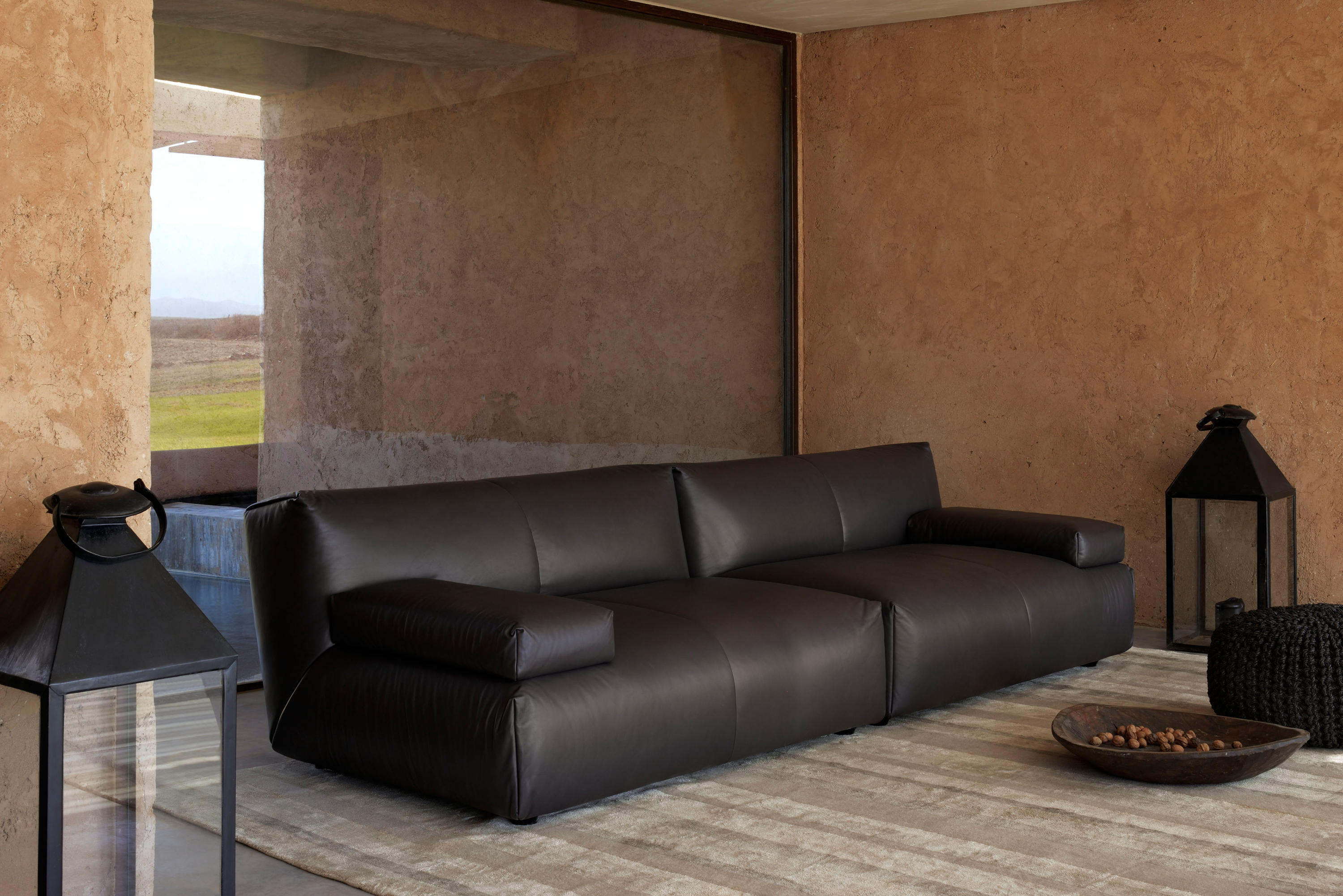 wood frame leather sofas george nelson sofa agadir sectional - from fendi casa | architonic