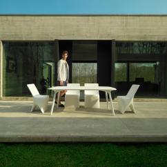 Plastic Resin Chairs Dark Teal Armchair Sloo Chair - Garden From Vondom | Architonic