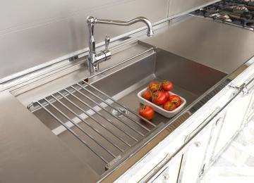 Lavello Cucina Monovasca | Lavello Incasso Acciaio Inox Atria 1 ...