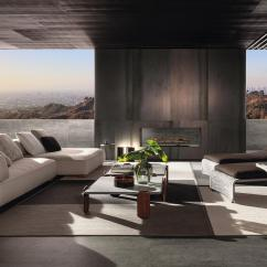 Light Grey Leather Sofa With Accent Chairs Florida Outdoor - Sofas From Minotti | Architonic