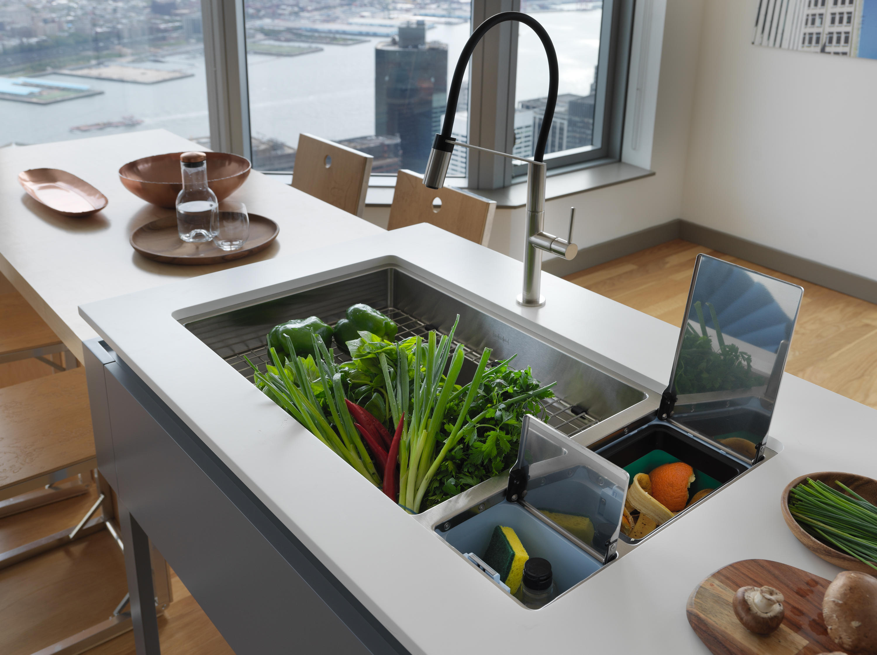 franco kitchen sinks glass tile countertop chef center stainless steel from