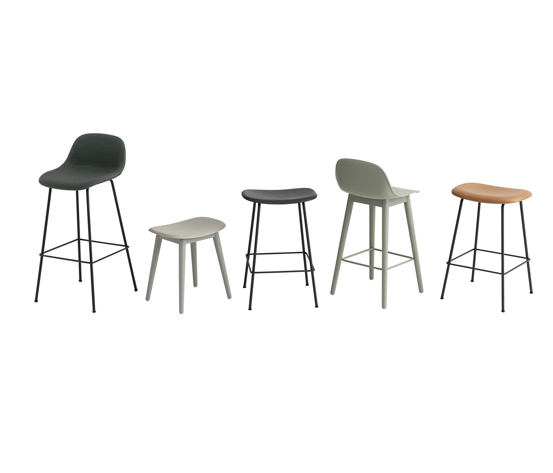 FIBER BAR STOOL  TUBE BASE  GREY  Bar stools from Muuto