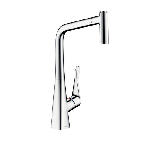 HANSGROHE METRIS SINGLE LEVER KITCHEN MIXER WITH PULL-OUT