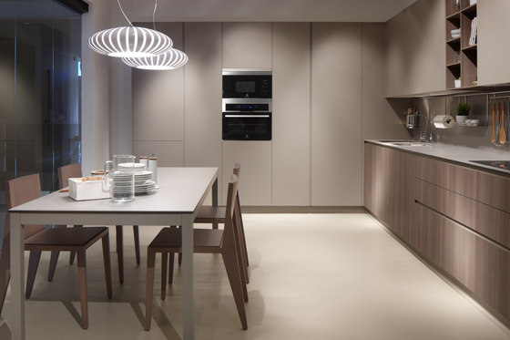 SERIE 45  ELM CHOCOLATE STONE  Fitted kitchens from dica