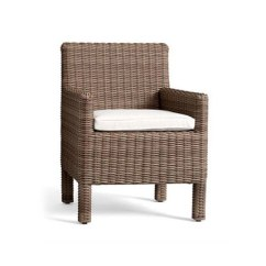 All Weather Garden Chair Wonderfully Woven Hanging Sims 4 Torrey Wicker Dining Natural Chairs From By Distributed Williams Sonoma