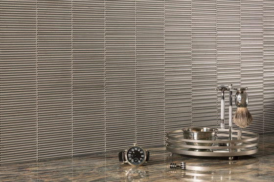 LOOM SILVER SILK CLEAR  FROSTED  Glass mosaics from