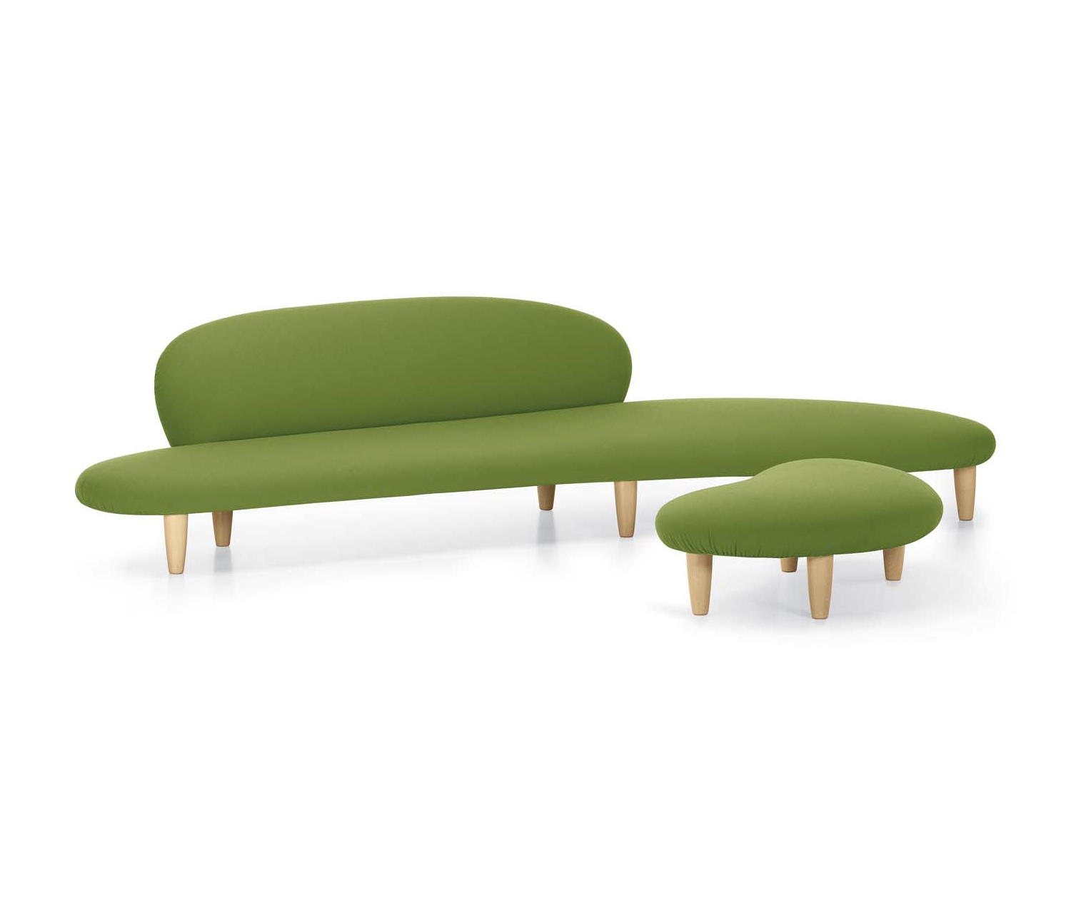 noguchi freeform sofa vitra convertible bed full size and ottoman by architonic