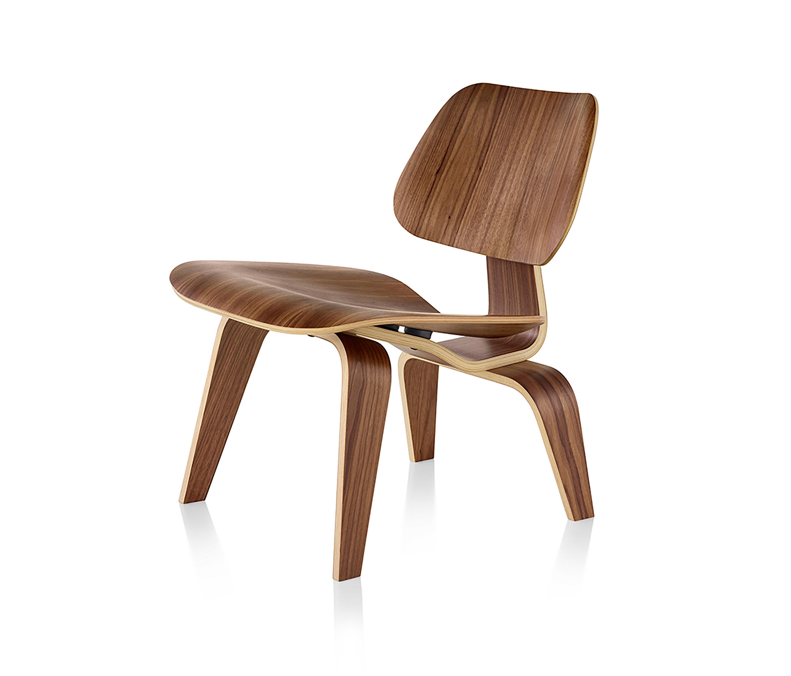 EAMES MOLDED PLYWOOD LOUNGE CHAIR WOOD BASE  Armchairs