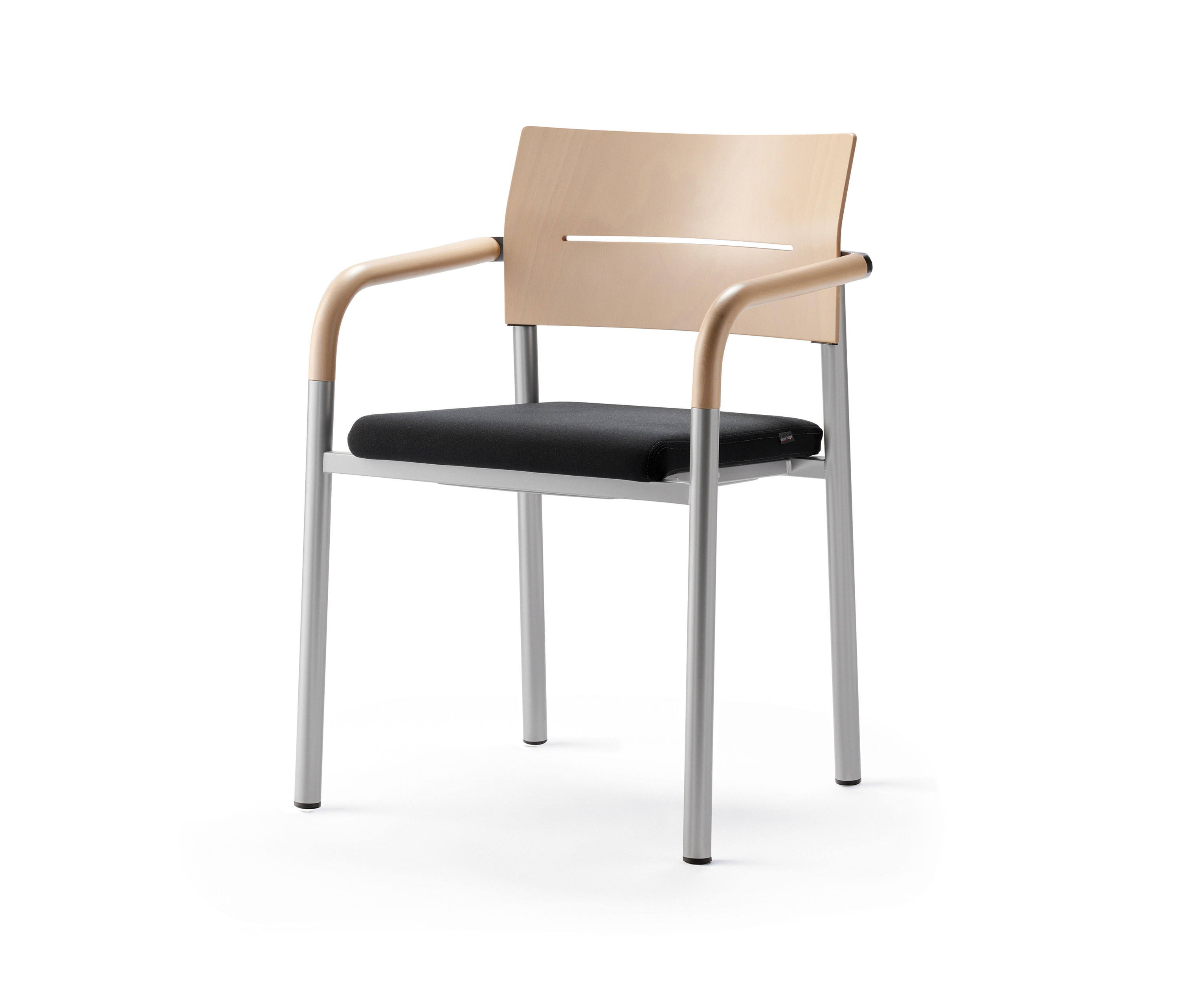 stackable chairs with arms slip cover wing back chair aluform 3 stacking beech visitors