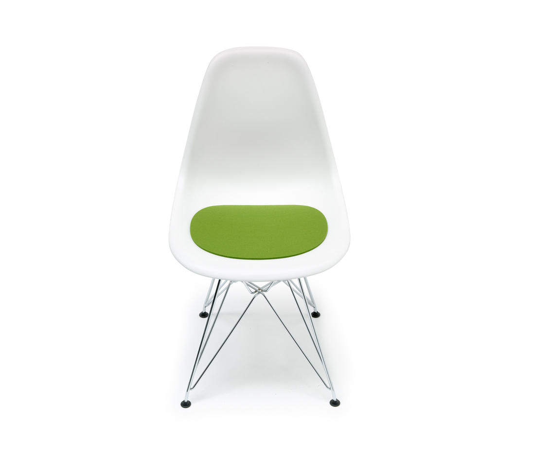 acrylic side chair with cushion race car office canada seat eames plastic cushions from