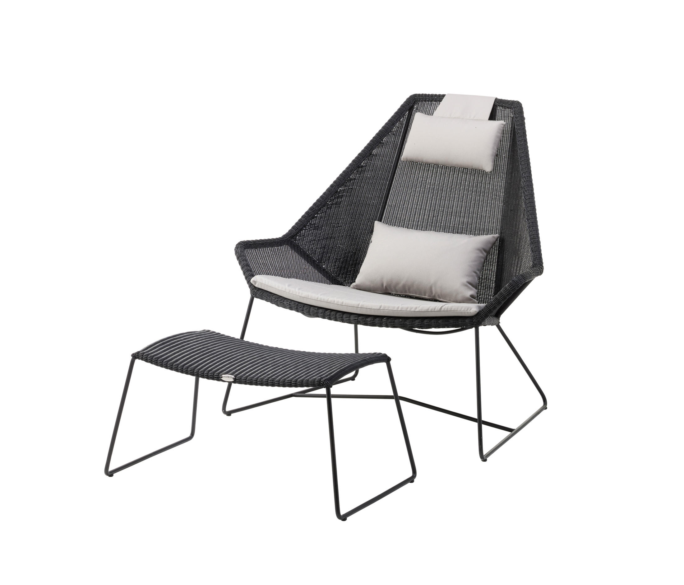 small black chair covers for plastic outdoor chairs breeze highback armchairs from cane line architonic