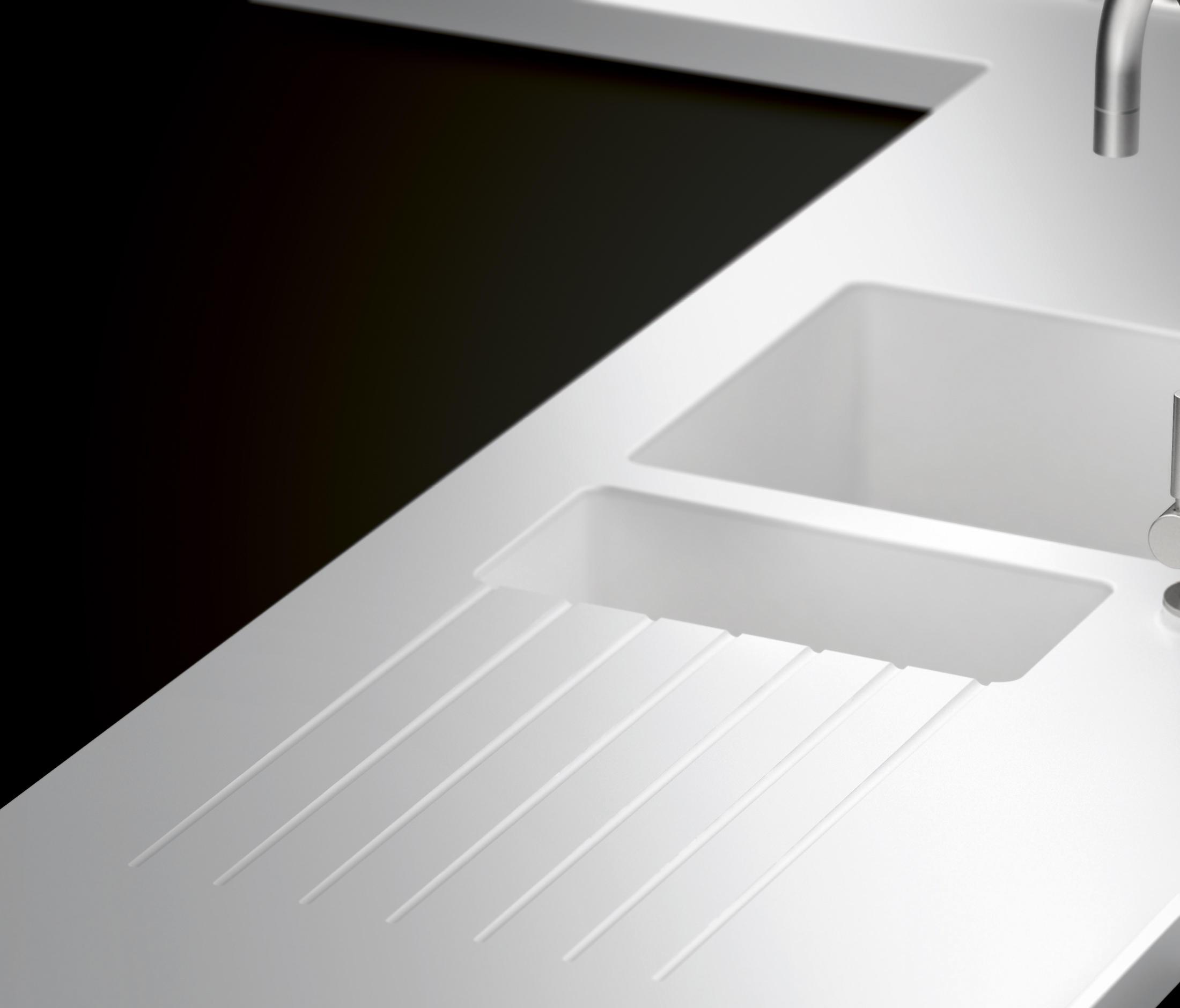 kitchen sink types materials ikea kitchens usa worktops made of corian® - sinks from hasenkopf ...