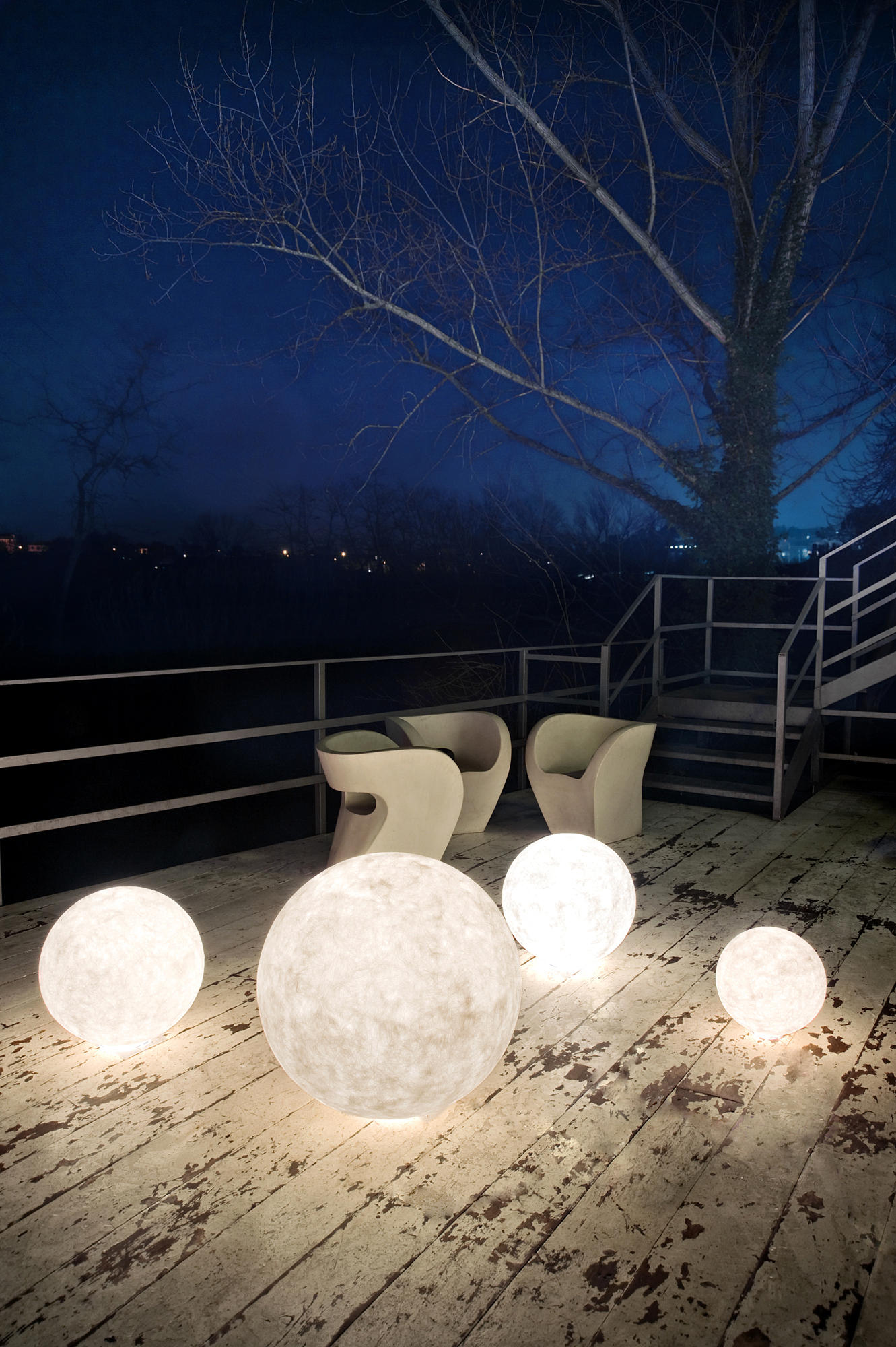 EX MOON  Outdoor floor lights from INESARTDESIGN