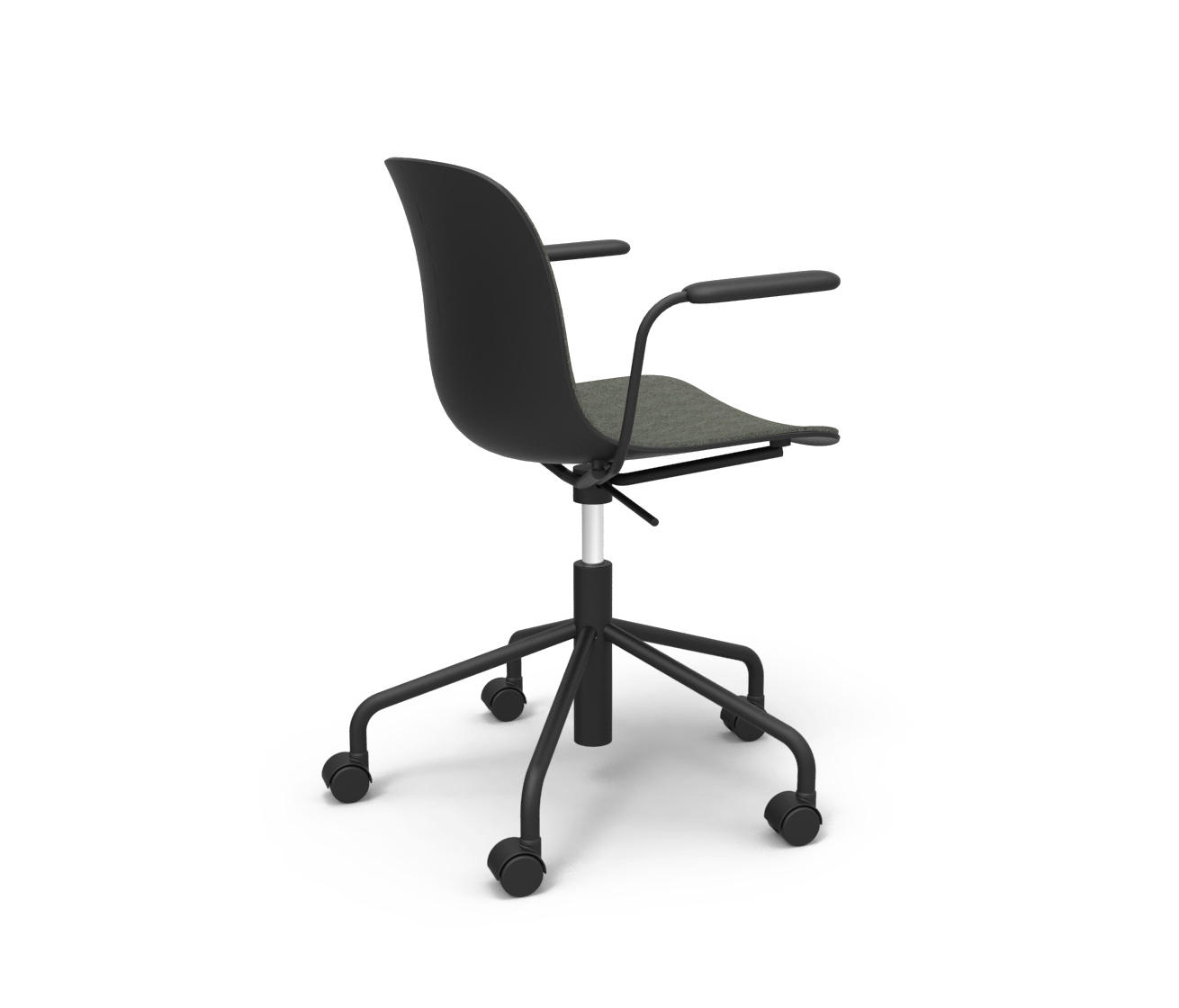 Chair On Wheels Troy Swivel Chair On 5 Wheels Office Chairs From Magis