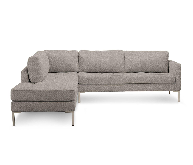 paramount sofa saddle leather left sectional divani blu dot architonic
