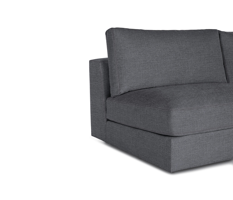 armless sofas design good leather reid sofa in fabric von within