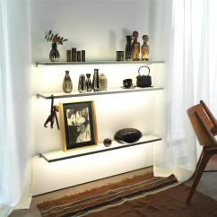 Living Room Glass Shelves Wall Units With Storage Shelf Gera Light System 4 Shelving From Architonic By
