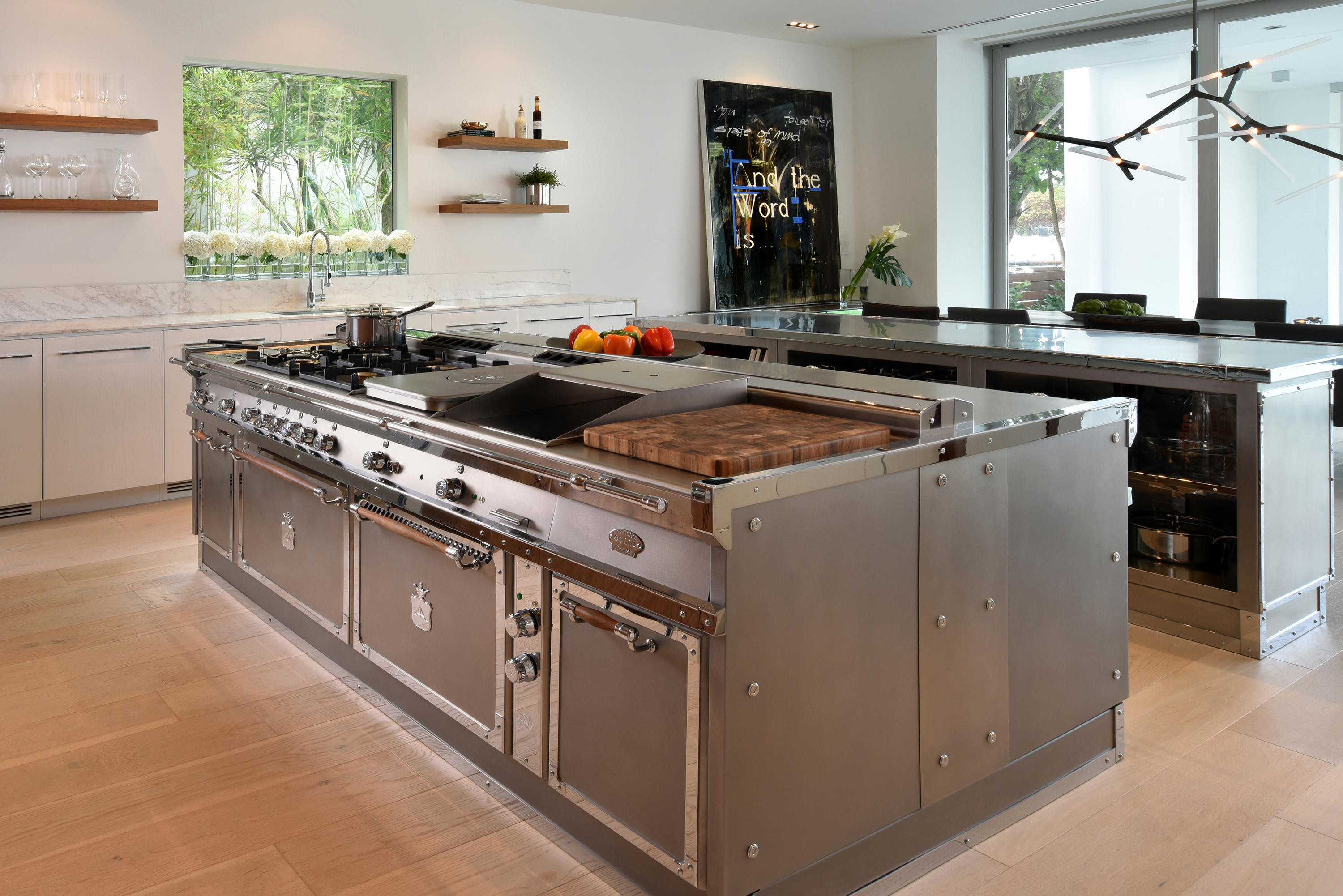 island in the kitchen bins miami steel kitchens from officine