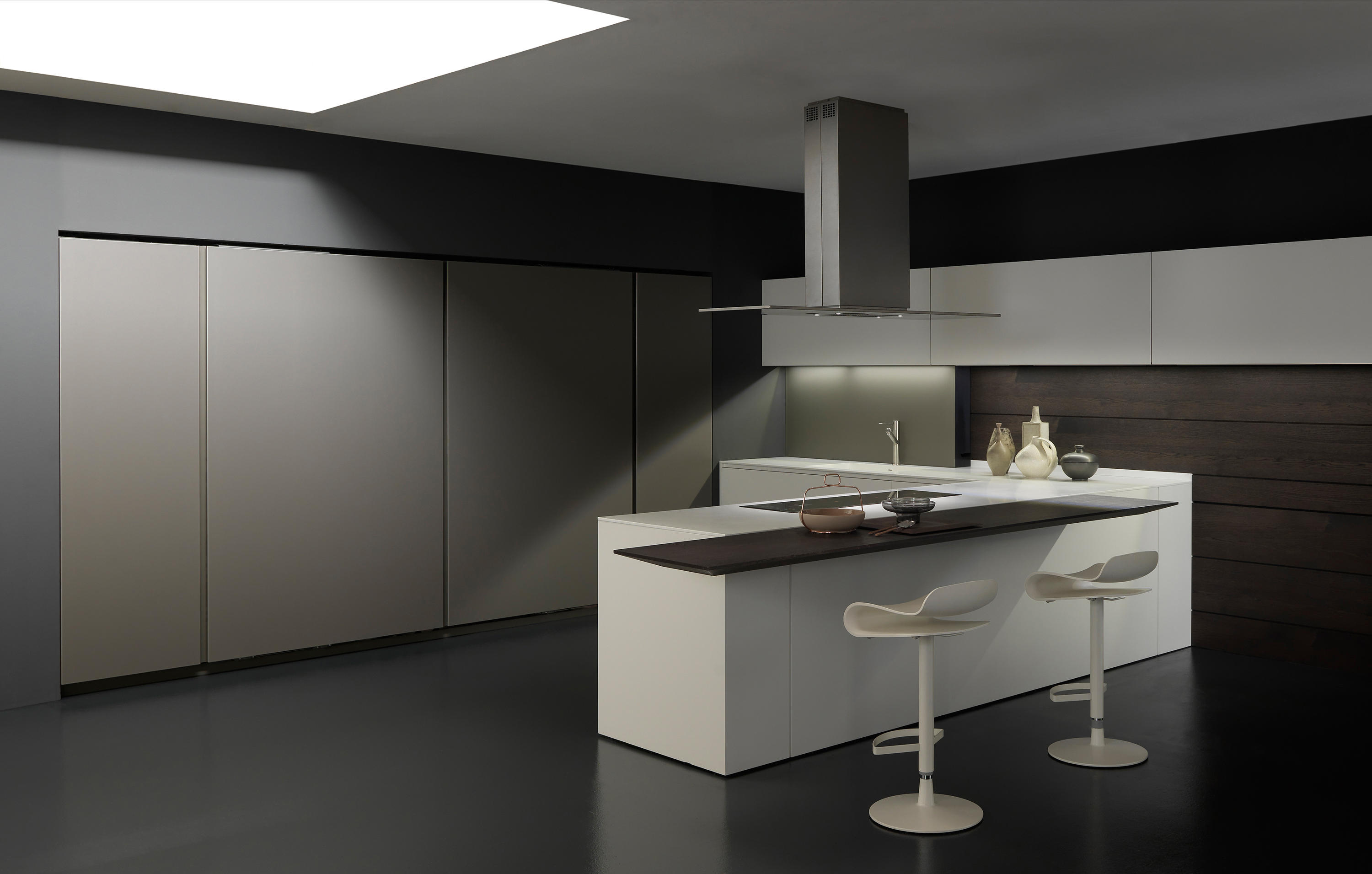 LIGHT 1 WHITE CORNER ARRANGEMENT  Fitted kitchens from Modulnova  Architonic