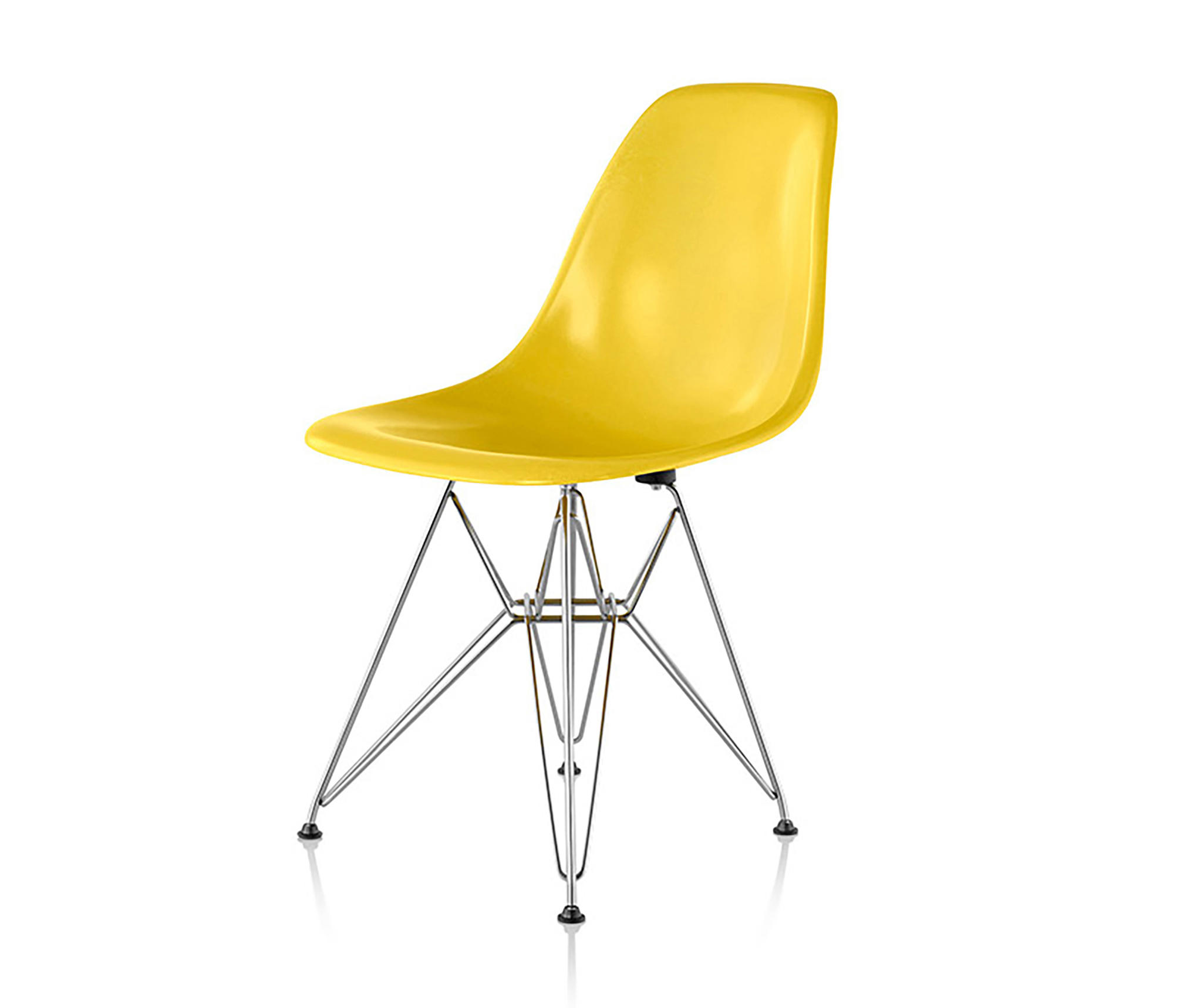 eames molded side chair spacesaver high fiberglass chairs from herman miller by