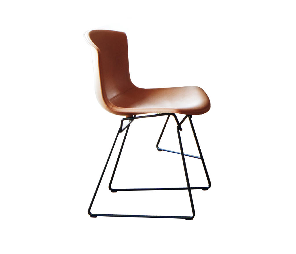 bertoia side chair futon chairs target in cowhide visitors
