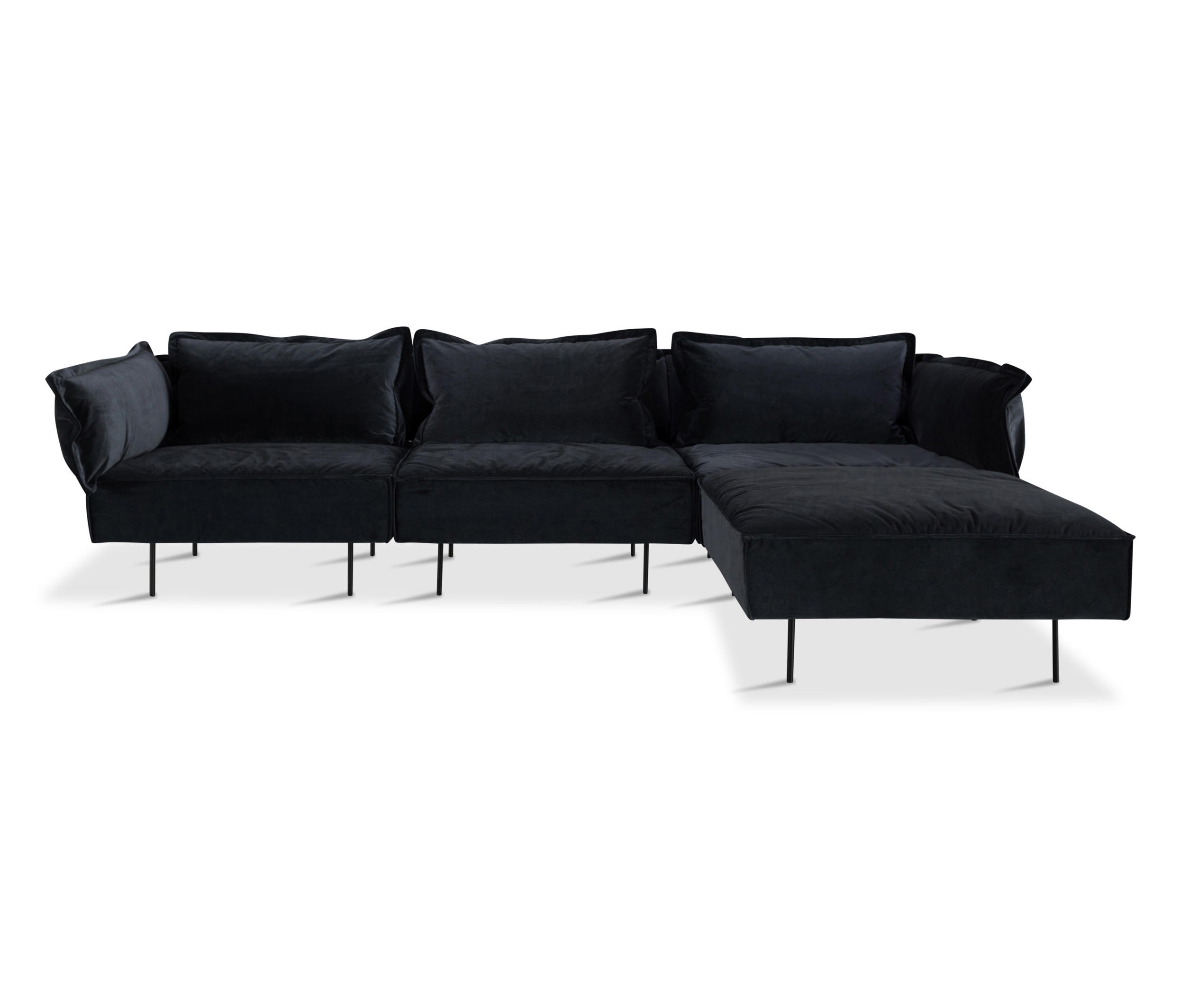 gray sofa with chaise lounge traditional table decorating ideas 3 seat dark grey sofas from handvÄrk