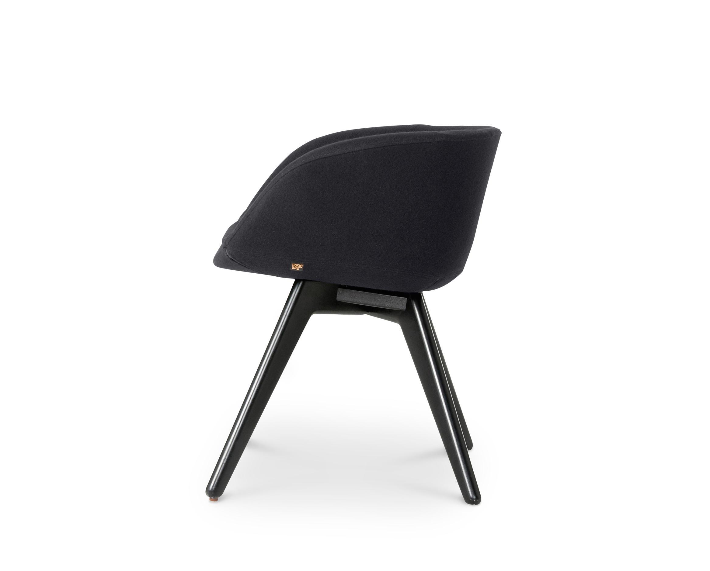 SCOOP CHAIR LOW BACK BLACK LEG TONUS 4  Visitors chairs
