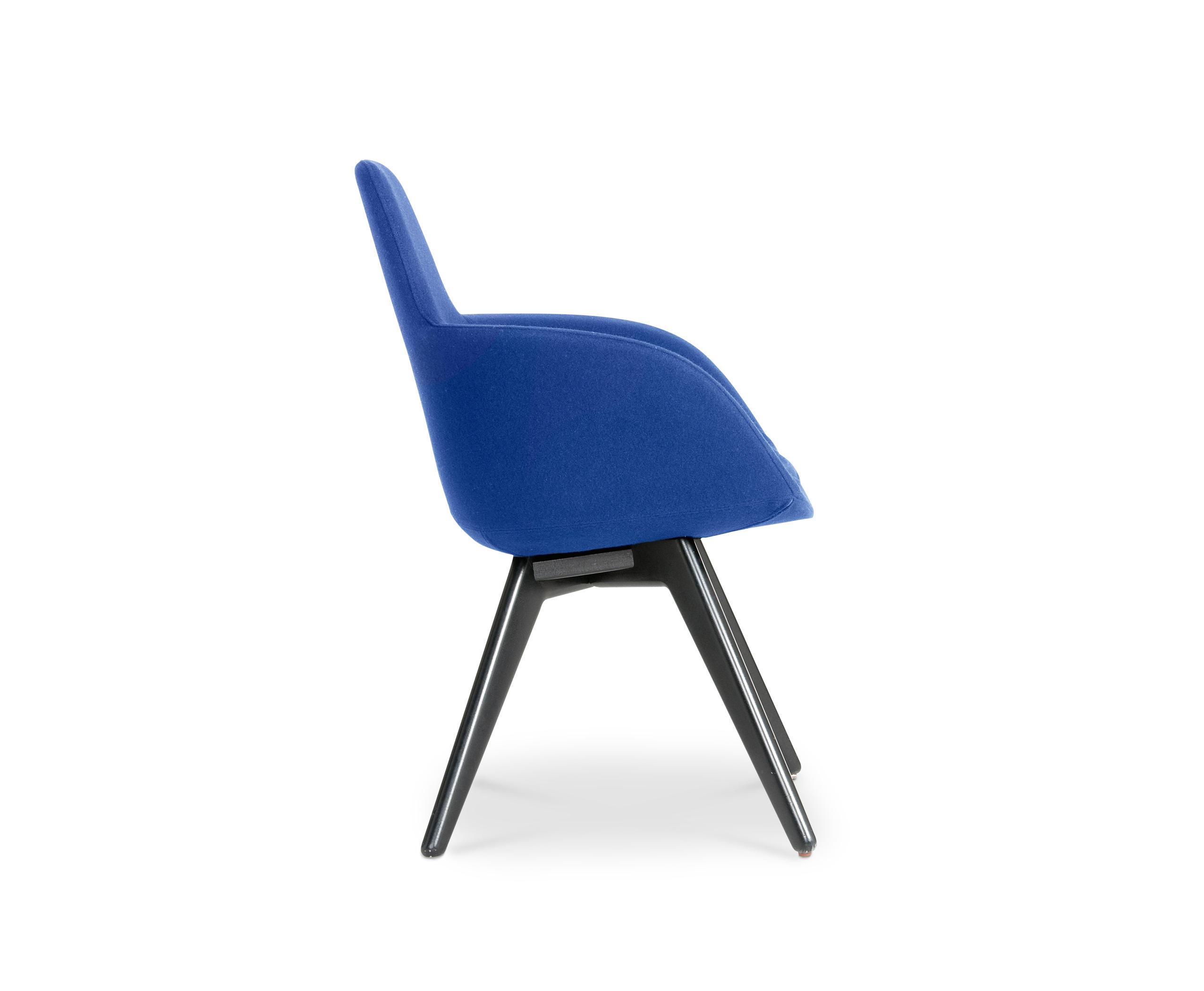 SCOOP CHAIR HIGH BACK BLACK LEG TONUS 4  Visitors chairs