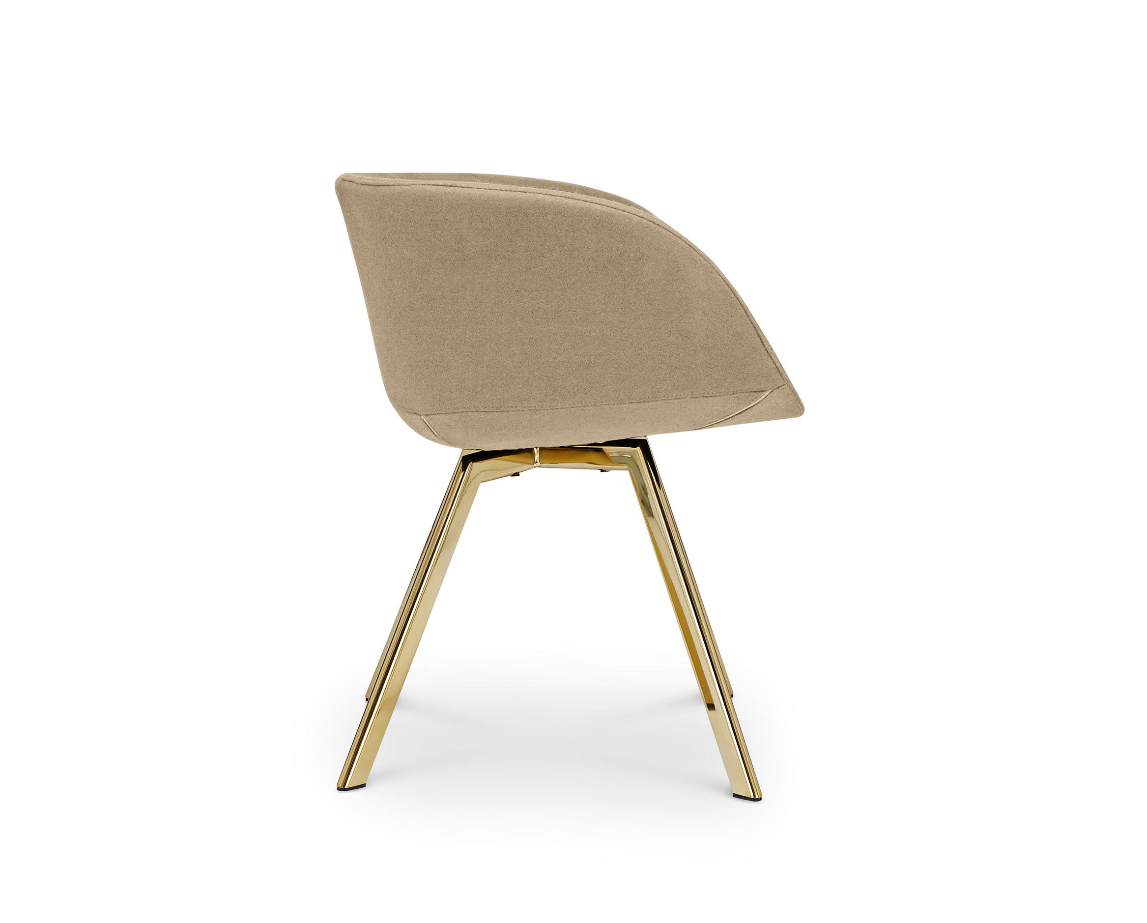 SCOOP CHAIR LOW BACK BRASS LEG TONUS 4  Visitors chairs