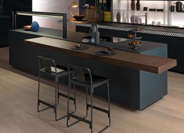 Piano Cucina Ardesia   Top Cucina Grigio Fabulous Cucina Stella ...