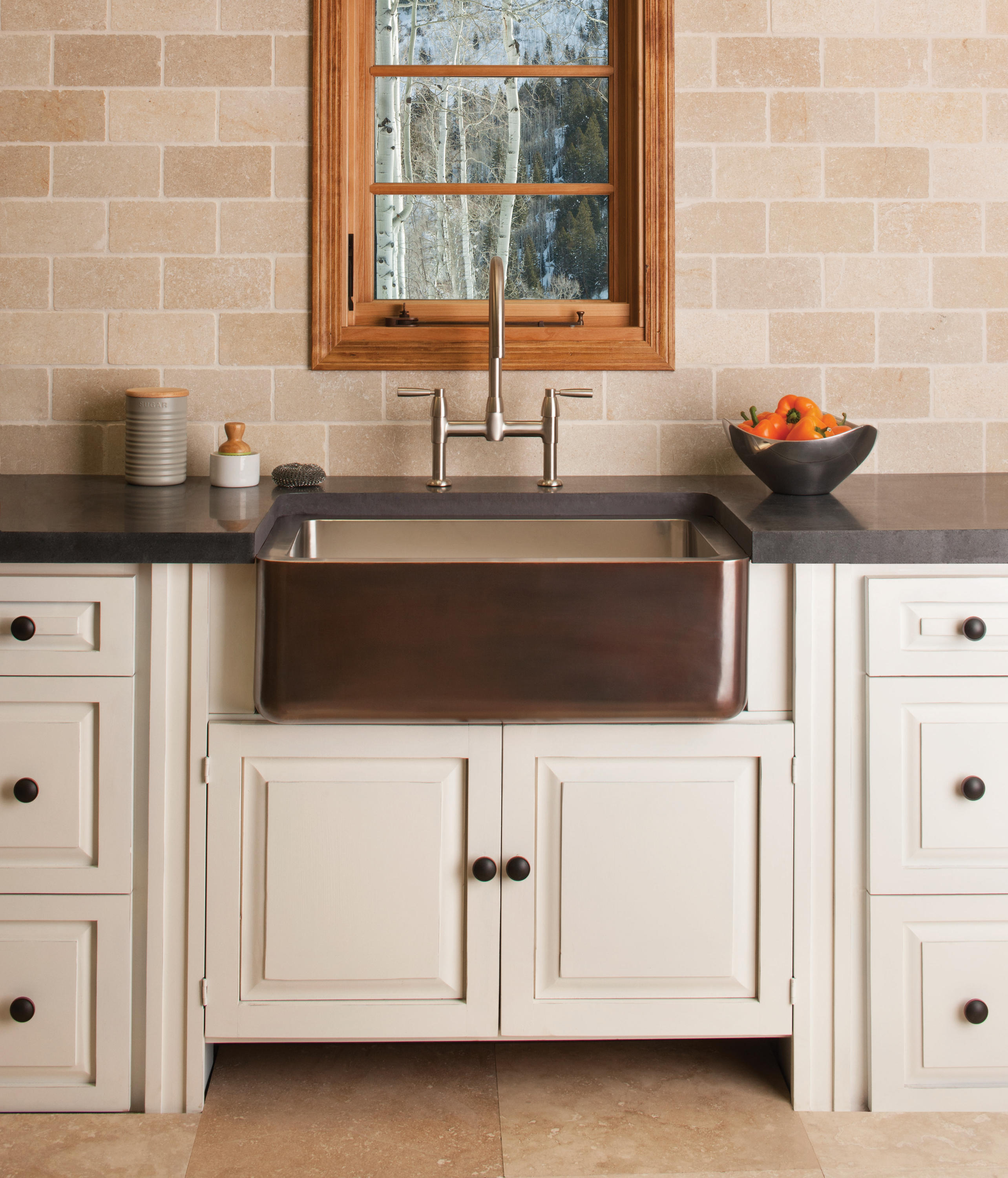 copper stainless farmhouse sink