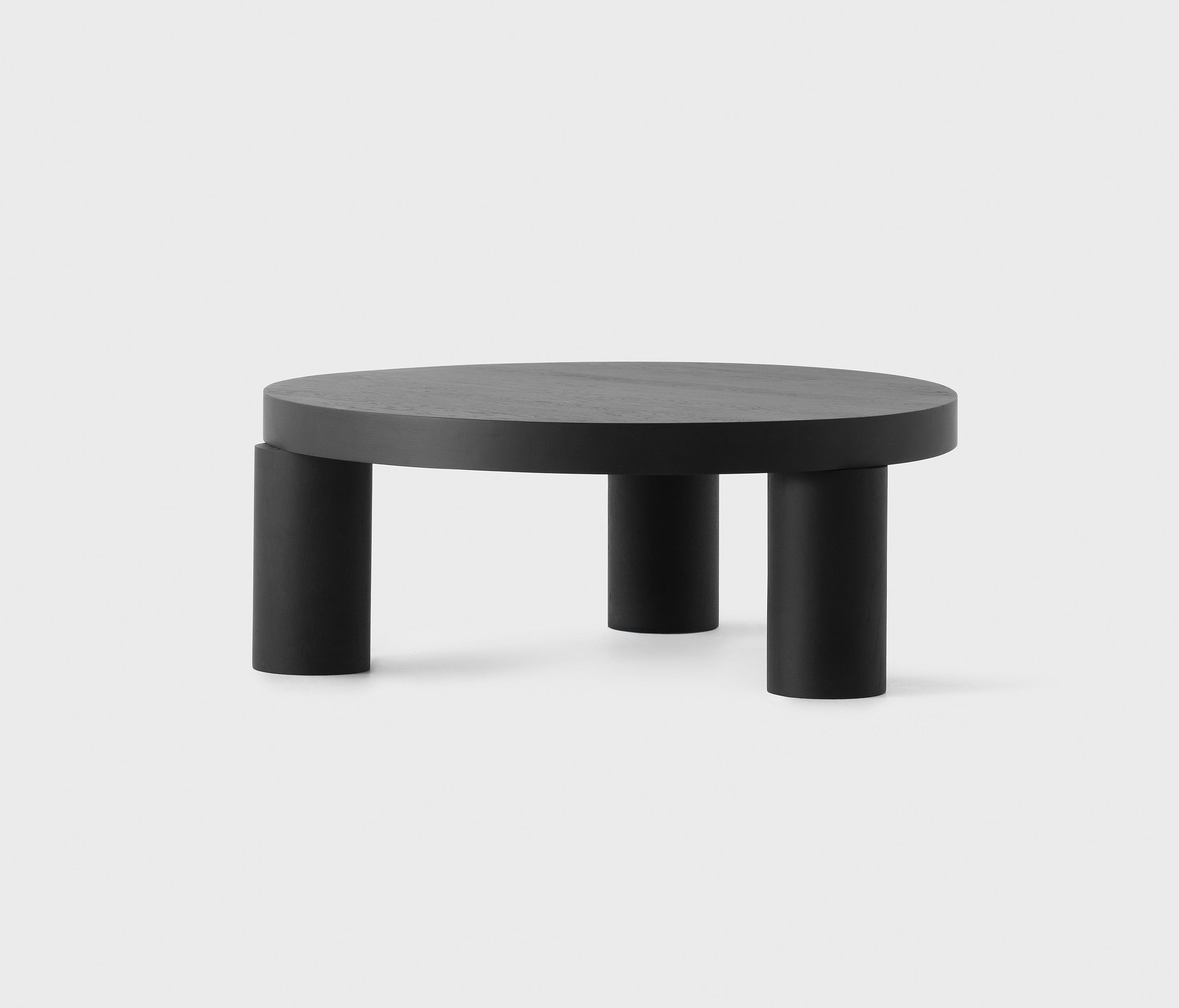 offset coffee table black architonic