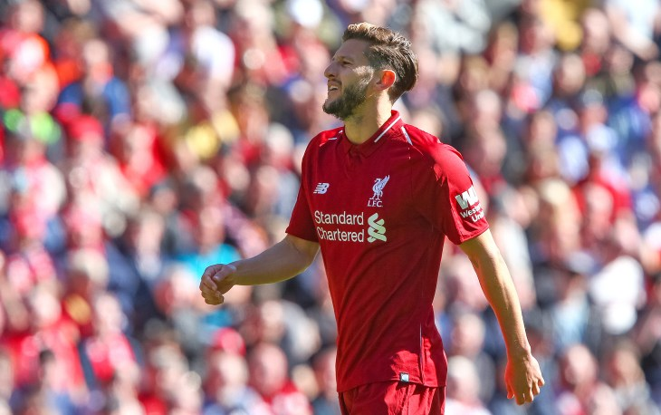 Adam Lallana is working on his fitness with Liverpool (Dave Thompson/PA).