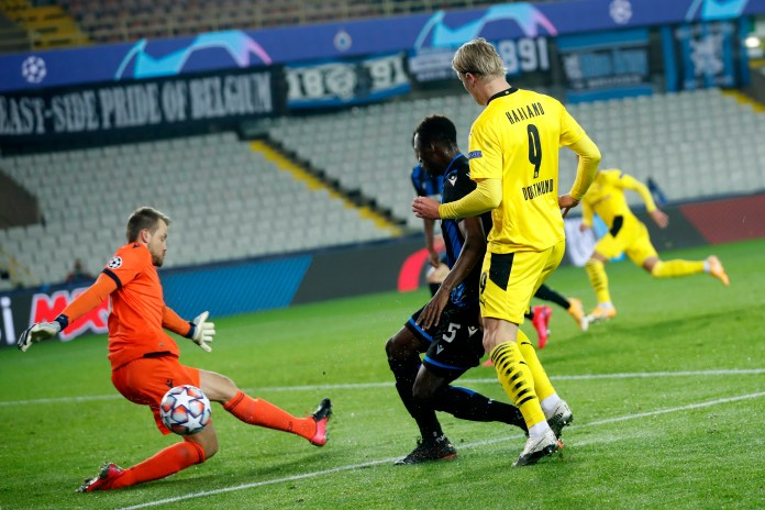 Erling Haaland was on target again for Borussia Dortmund