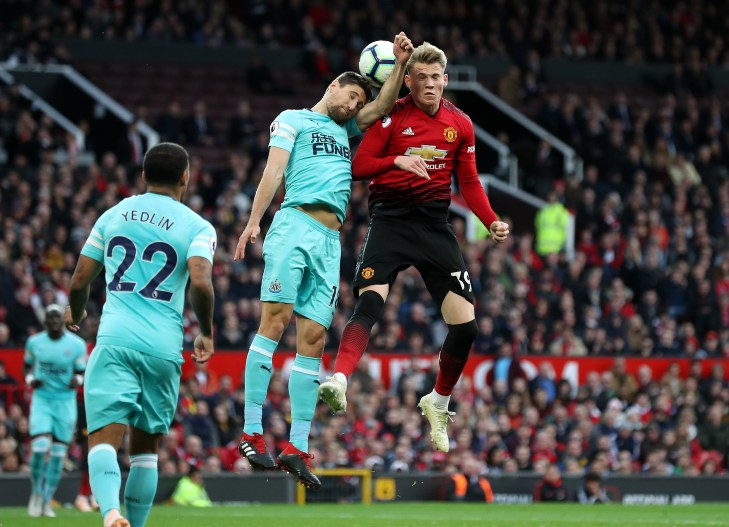 Manchester United's Scott McTominay went off against Newcastle