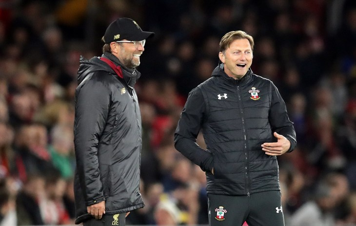 Hasenhuttl (right) believes his side may have scored too early