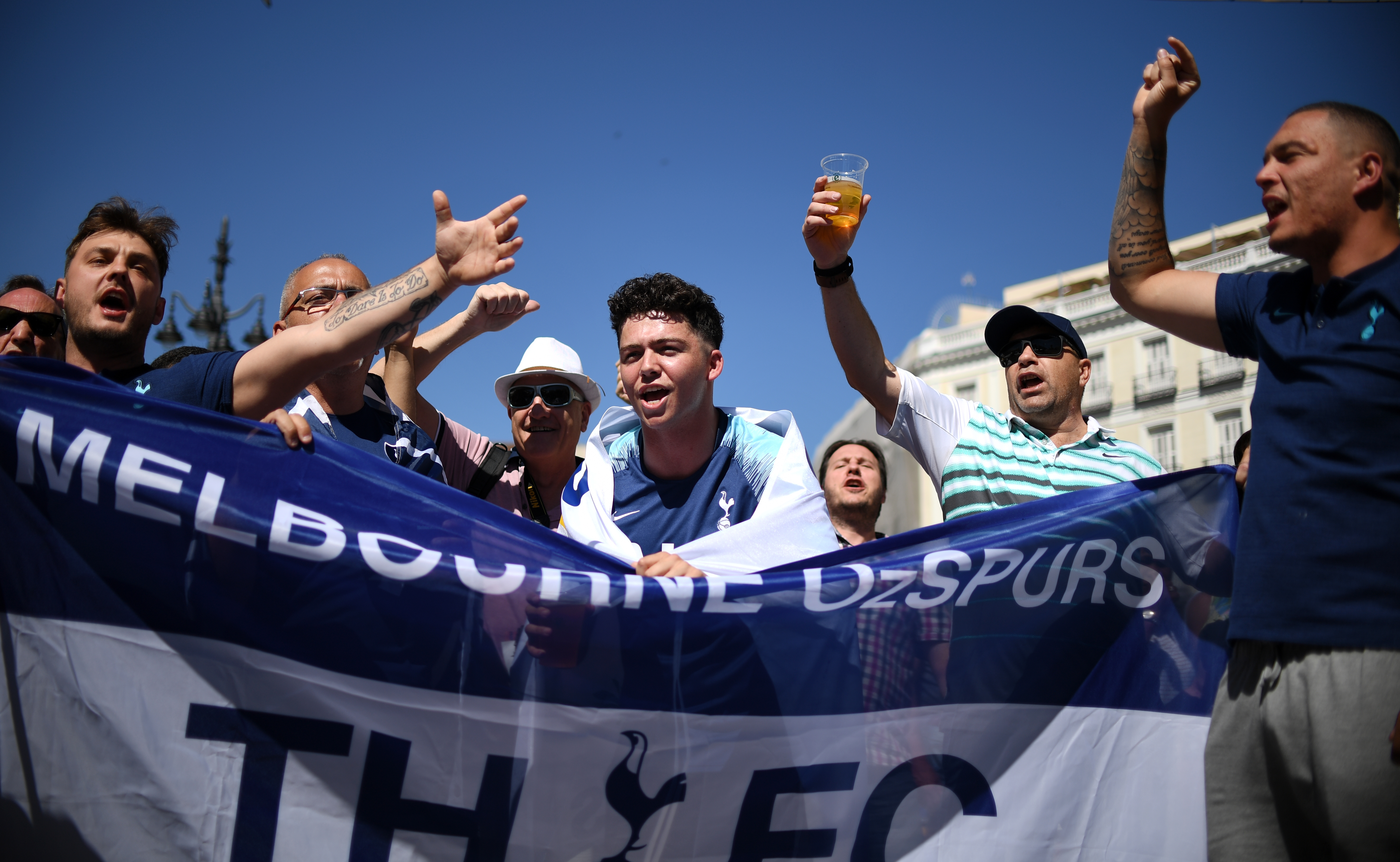 Tottenham fans are also in good spirits