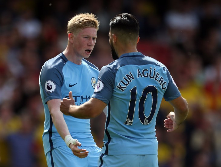 Kevin De Bruyne and Sergio Aguero are due back from injury soon for Manchester City