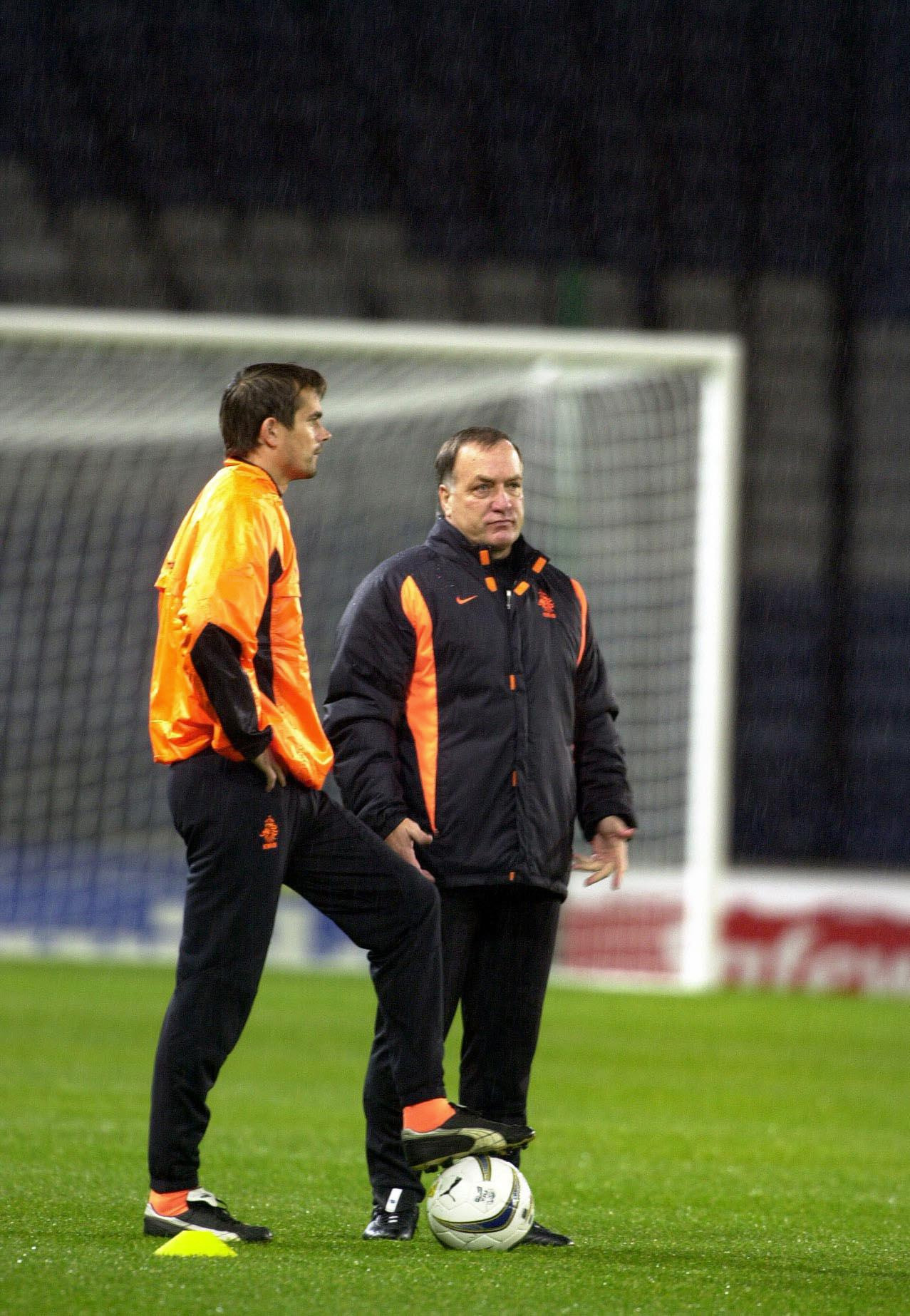 Cocu worked with Dick Advocaat (right) as he moved into coaching