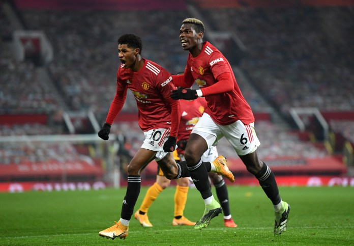 Marcus Rashford's late goal helped Manchester United move up to second in the table