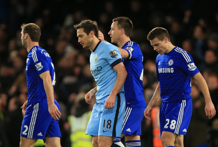 After Lampard eventually left Chelsea, initially to play in the MLS, the pair found themselves on opposite teams (Mike Egerton/PA)