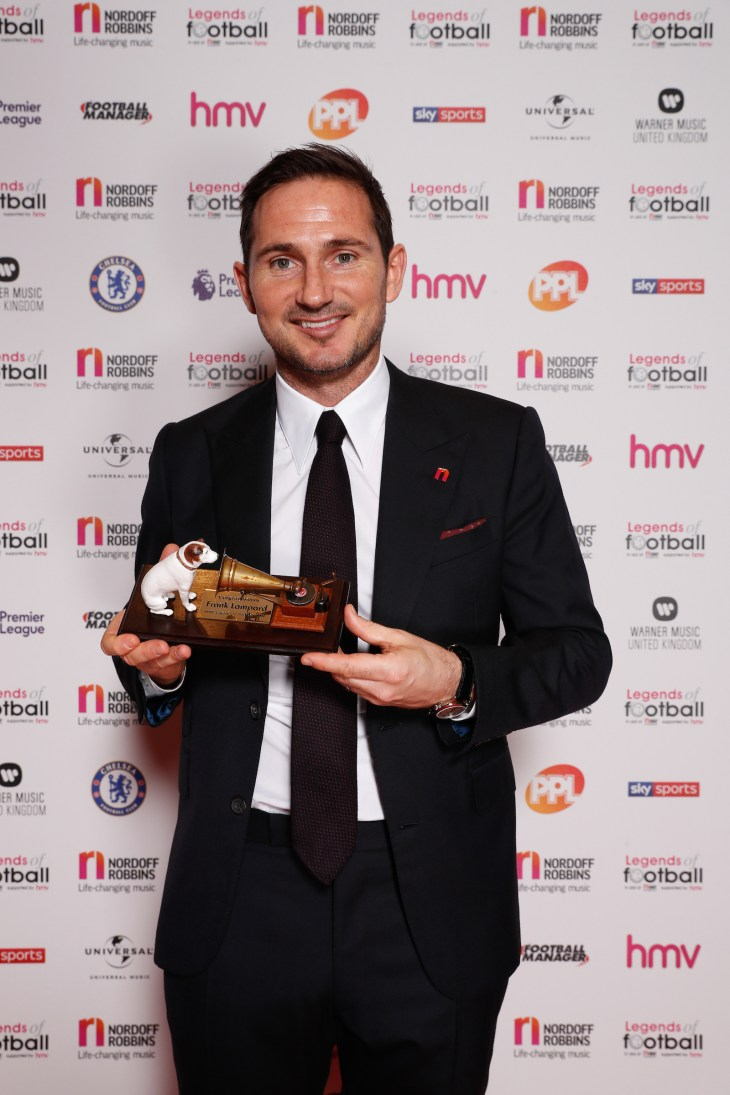 Frank Lampard was honoured at the Legends of Football Event in London