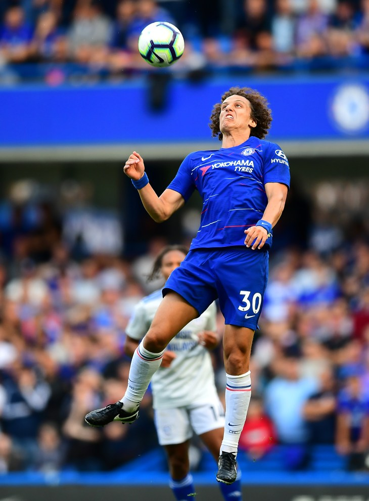 David Luiz, pictured, and Antonio Rudiger have been Chelsea's first-choice centre-back pairing this season
