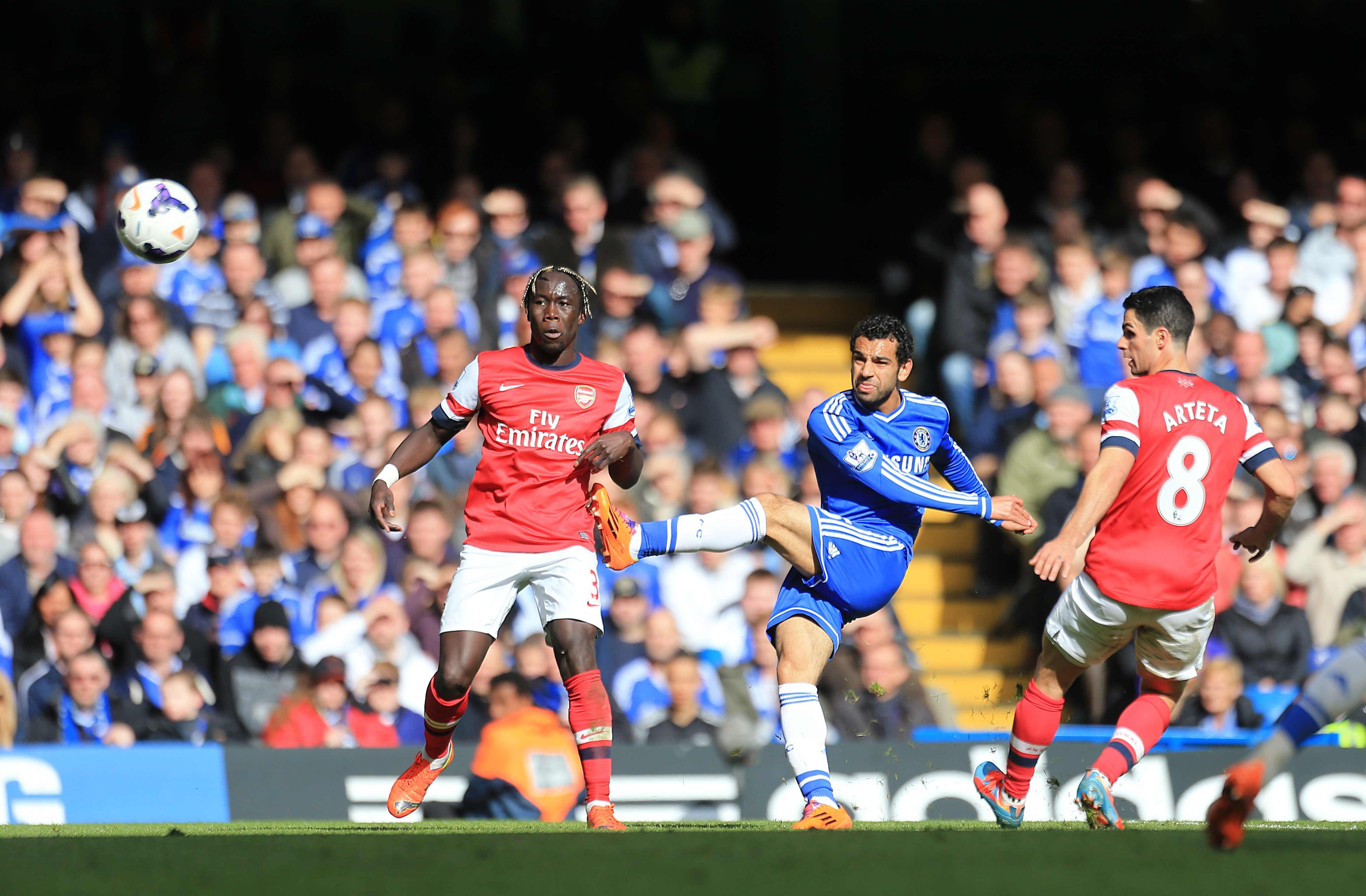 Mohamed Salah scored Chelsea's last goal in a 6-0 thrashing of Arsenal in what was Wenger's 1000th game in charge.