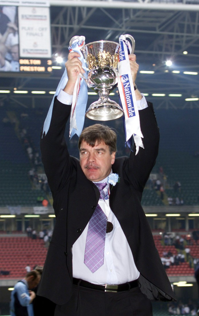 Allardyce was appointed Bolton manager in 1999 and won promotion to the top flight in 2001